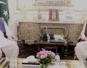 لا ہور: سپیکر قومی اسمبلی اسد قیصر اور گورنر پنجاب چوہدری محمد سرور ..