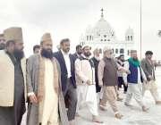لاہور : صوبائی وزیر اوقاف سید سعید الحسن شاہ کرتار پور راہداری میں مختلف ..