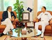 اسلام آباد، وفاقی وزیر میری ٹائم افئیرز علی حیدر زیدی سے چیف آف نیول ..