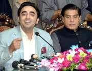 لاہور: پیپلز پارٹی کے چئیرمین بلاول بھٹوزرداری پریس کلب میں میٹ دی ..