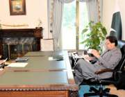 اسلام آباد، وزیراعظم عمران خان سے مشیر برائے نوجوانان عثمان ڈار ملاقات ..