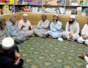 پشاور : تاجر اتحاد کینٹ کے صوبائی صدر مجیب الرحمن تاجروں کے مسائل کے ..