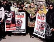 حیدرآباد، سول سوسائٹی کی طرف سے بچی علیشاہ سے انصاف کیلئے احتجاجی مظاہرہ ..