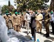 اٹک، جنرل آفیسر کمانڈنگ میجر جنرل ماجد جہانگیر قرنطینہ سنٹر کا دورہ ..