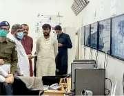 لاہور: صوبائی وزیر صنعت و تجارت میاں اسلم اقبال یوم عاشورہ کے موقع پرننکانہ ..