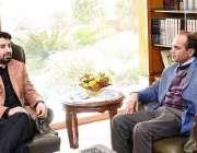 اسلام آباد: ڈپٹی اسپیکر قومی اسمبلی قاسم خان سوری کے ساتھ میاں آفتاب ..
