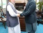 اسلام آباد: پیر پگاڑا سید صبغت اللہ شاہ راشدی نے وزیراعظم عمران خان ..
