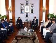 کراچی: وزیر اعلیٰ سندھ سید مراد علی شاہ نے فیڈریلا کے وزیر ریلوے شیخ ..