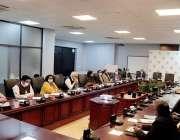 اسلام آباد، ڈاکٹر ثانیہ نشتر بیوہ احساس پروگرام منصوبے سے متعلق اجلاس ..