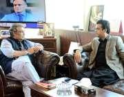 اسلام آباد: وفاقی وزیر برائے بحری امورعلی زیدی سے وزیراعظم کے معاون ..