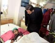 مظفرآباد: وزیراعظم عمران خان سی ایم ایچ مظفرآباد میں برفانی تودے اور ..