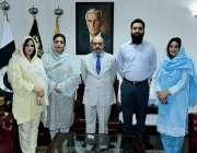 اسلام آباد، صدر آزاد کشمیر سردار مسعود خان سے عظمی گل کی قیادت میں وفد ..