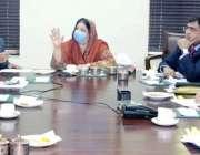 لاہور: صوبائی وز صحت ڈاکٹر یاسمین راشد محکمہ سپیشلائزڈ ہیلتھ کیئر اینڈ ..