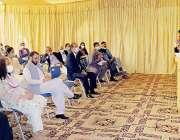 لاہور، صوبائی وزیر قانون و سوشل ویلفیئیرراجہ بشارت ڈیف ریچ ہسپتال ..