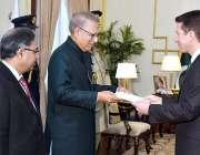 اسلام آباد: برطانیہ کے ہائی کمشنر نامزد ، کرسچن ٹرنر ایوان صدر میں صدر ..