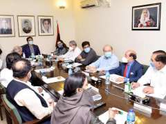 Karachi : Chairman Pakistan People Porty Bilawal Bhutto Zardari chairing hybrid meeting of the Central Executive Committee.