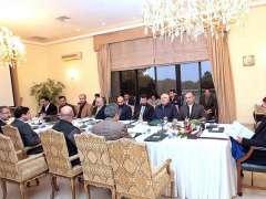 ISLAMABAD:Prime Minister Imran Khan chairing a meeting to review progress regarding the socio-economic development of Khyber Pakhtunkhwa.