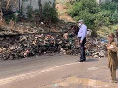 Islamabad : Anti Dengue activities are going on in Bari Imam area. Removal of garbage dumps is in process.