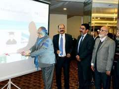 ISLAMABAD:Federal Secretary Ministry of Information Technology and Telecommunication Shoaib Ahmad Siddiqui inaugurating Digital Pakistan Internship Portal.