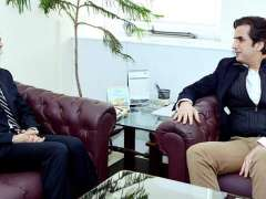 ISLAMABAD:Ambassador of the People's Republic of China Yao Jing called on Federal Minister for National Food Security & Research, Makhdoom Khusro Bakhtiar.