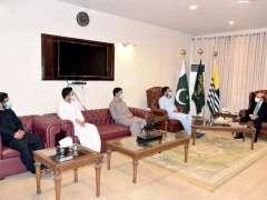 Muzaffarabad: A delegation led by Mr. Mehran Maroof, Acting President, Islami Jamiat Tulba meeting with President AJK, Sardar Masood Khan.