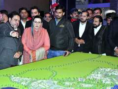 ISLAMABAD:Special Assistant to the Prime Minister on Information and Broadcasting Dr. Firdous Ashiq Awan visiting different stalls during Smart Expo of Future Development at Pak-China Friendship Center.