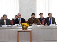 ISLAMABAD:Deputy Speaker National Assembly Qasim Khan Suri presiding over the meeting of House & Library Committee of the National Assembly in Parliament House.