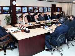 ISLAMABAD:President Dr. Arif Alvi chairing a presentation on Pakistan Bait-ul-Mal.