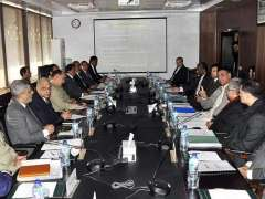 ISLAMABAD:Federal Minister for Planning, Development & Special Initiatives Asad Umar chairing 63rd meeting of the National Logistic Board (NLB).