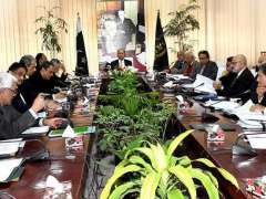 ISLAMABAD:Adviser to the Prime Minister on Finance and Revenue, Dr. Abdul Hafeez Shaikh chairs meeting of the Economic Coordination Committee (ECC) of the Cabinet.