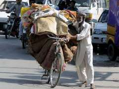 Rawalpindi: An elderly person is forced to work hard to support his family.