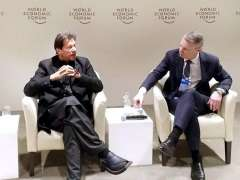 DAVOS:Prime Minister Imran Khan delivering remarks at Pakistan Country Strategy Dialogue in WEF Congress Center.