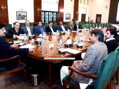KARACHI:Sindh Chief Minister Syed Murad Ali Shah presides over a meeting to review progress of on-going projects of BRTS Orange Line and Red Line at CM House.