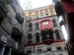 Rawalpindi: A view of ancient buildings in Bhabra Bazaar.