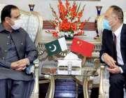 لاہور، وزیراعلی پنجاب عثمان بزدار سے چین کے سفیر نونگ رونگ ملاقات کر ..