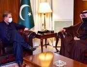 اسلام آباد، وزیر خارجہ شاہ محمود قریشی سے قطری وزیر خارجہ ڈاکٹر مطلاق ..