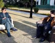 اسلام آباد، وزیراعظم عمران خان سے چئیرمین سینیٹ محمد صادق سنجرانی ..