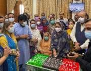 کراچی، فریال تالپور چئیرمین پیپلز پارٹی بلاول بھٹو زرداری کی 33 ویں ..