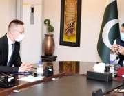 اسلام آباد، وزیراعظم عمران خان سے ہنگری کے وزیر خارجہ و تجارت پیٹر ..