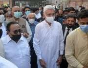 لاہور، تحریک انصاف کے سینئر مرکزی رہنما جہانگیر ترین مقامی عدالت میں ..