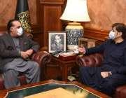 کراچی، گورنر سندھ عمران اسماعیل سے وزیراعلی سندھ مراد علی شاہ ملاقات ..