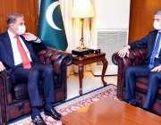 اسلام آباد، وزیر خارجہ شاہ محمود قریشی سے کوسوو کے سفیر ملاقات کر رہے ..