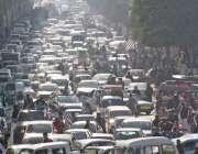 راولپنڈی، پی ڈی ایم کی الیکشن کمیشن کی جانب احتجاجی ریلی کے باعث مری ..