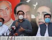 اسلام آباد، پاکستان پیپلز پارٹی کے چئیرمین بلاول بھٹو زرداری پریس ..
