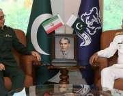 اسلام آباد، چیف آف نیول سٹاف ایڈمرل محمد امجد خان نیازی سے ایران کی ..