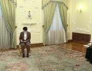 تہران،شاہ محمود قریشی صدارتی ہاؤس میں ایرانی صدر حسن روحانی سے ملاقات ..