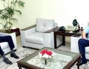 اسلام آباد، وزیر خزانہ شوکت ترین سے گورنر سٹیٹ بینک ڈاکٹر رضا باقر ..