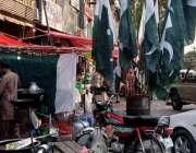 اسلام آباد، آئی ایٹ میں یوم آزادی کی مناسبت سے جھنڈے فروخت کیلئے سجائے ..