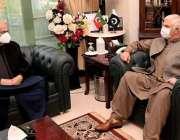 پشاور، وزیراعلی خیبرپختونخوا محمود خان سے وفاقی وزیر نارکوٹیکس کنٹرول ..