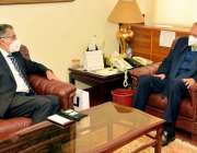 اسلام آباد، وزیراعظم کے مشیر برائے کامرس عبدالرزاق داؤد سے پاکستان ..